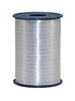 Geschenkband Silber 500m x 5mm America Ringelband