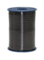 Geschenkband Schwarz 500m x 5mm America Ringelband