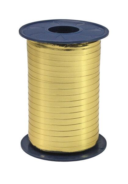 Geschenkband Metallic Gold 400m x 5mm Mexico Ringelband