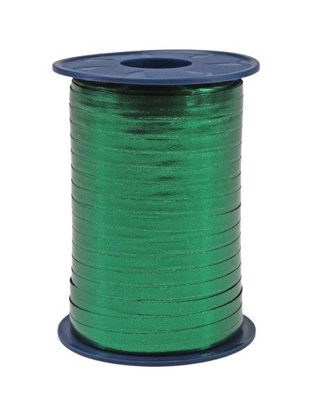 Geschenkband Metallic Tannengrün 400m x 5mm Mexico Ringelband