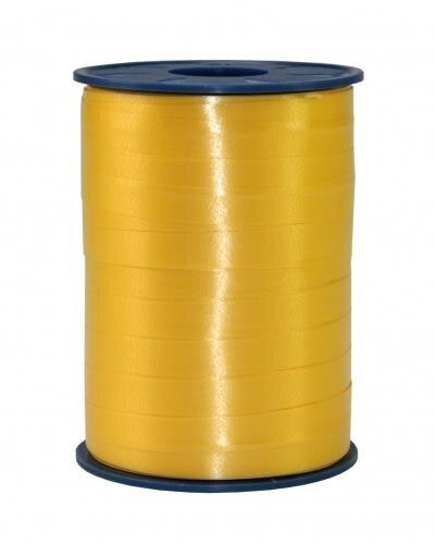 Geschenkband Gelb 250m x 10mm America Ringelband