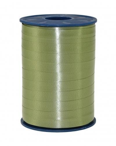 Geschenkband Olive 250m x 10mm America Ringelband