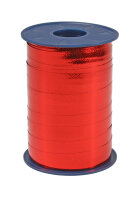 Geschenkband Metallic Rot 250m x 10mm Mexico Ringelband