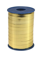 Geschenkband Metallic Gold 250m x 10mm Mexico Ringelband