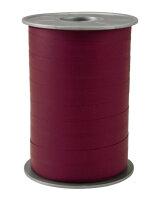 Geschenkband Matt Bordeaux 200m x 10mm Opak Ringelband