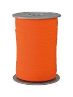 Geschenkband Matt Orange 200m x 10mm Opak Ringelband