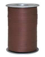 Geschenkband Matt Braun 200m x 10mm Opak Ringelband
