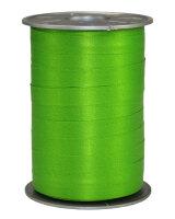 Geschenkband Matt Apfelgrün 200m x 10mm Opak Ringelband