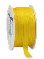 Taftband Gelb 50m x 10mm Europa Schleifenband
