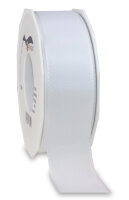 Taftband Weiß 50m x 40mm Europa Schleifenband