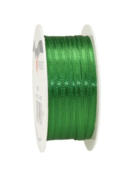 Doppelsatinband Grün 10m x 3mm Satin