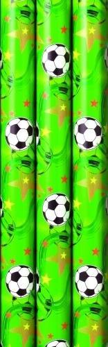 Geschenkpapier Fußball Soccer Premium 2m x 70cm - 3 Rollen