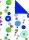 Geschenkpapier Secare Rolle Padua x VT blau mg 70 cm x 250 m - 60110