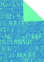 Geschenkpapier Secare Rolle Epigramm blau we.50 cm x 250...