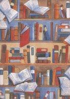 Geschenkpapier Secare Rolle Librairie we.5fbg.30 cm x 250...