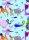 Geschenkpapier Secare Rolle Crazy türkis mg 50 cm x 250 m - 40178