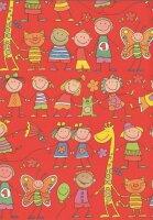 Geschenkpapier Secare Rolle Rasselbande rot gN 50 cm x...