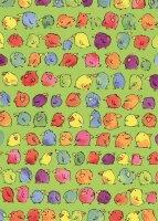 Geschenkpapier Secare Rolle Piepmatz grün gN 50 cm x...