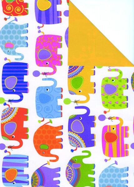 Geschenkpapier Secare Rolle Hathi x VT maisgelb mg 30cm x 250 - 60218