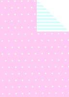 Geschenkpapier Secare Rolle BEBE rosa-hbl.mg 30 cm x 250...