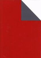 Geschenkpapier Secare Rolle VT rot+UV x grau gN 50 cm x...