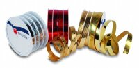 Polyband Curling Star 10mm x 24m pro Spule, Rot Gold Silber