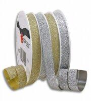 Glitter-Ringelband Poly Glitter 10mm x 16m pro Spule,...