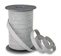 Geschenkband Glitzer Silber 100m x 10mm Poly Glitter...