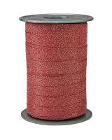 Geschenkband Glitzer Rot 100m x 10mm Poly Glitter Ringelband