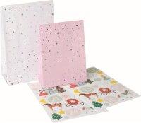 Adventskalender Mädchen Set 24 Papiertüten mit...
