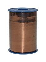 Geschenkband Metallic Braun 250m x 10mm Mexico Ringelband