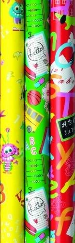Geschenkpapier Einschulung Schulanfang 2m x 0,7m - 20 Rollen