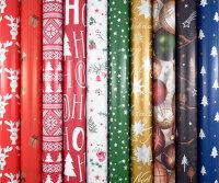 Geschenkpapier Weihnachten, Weihnachtspapier 2m x 0,7m -...