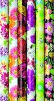 Geschenkpapier Blumen 2m x 0,7m - 6 Rollen