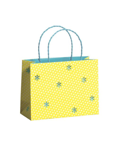 """Geschenktüten """"Happiness Yellow"""" 225 x 92 x 170 mm - 10 Tüten"""