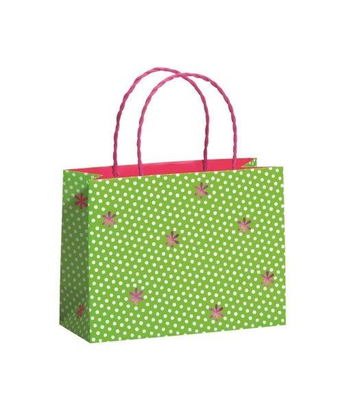 """Geschenktüten """"Happiness Green"""" 225 x 92 x 170 mm - 100 Tüten"""