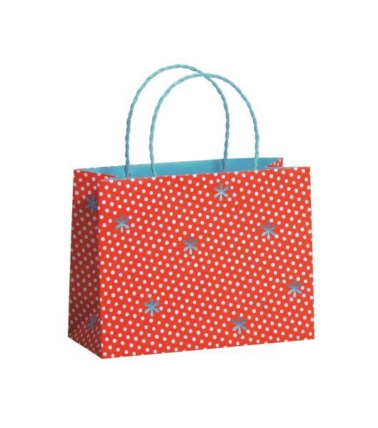 """Geschenktüten """"Happiness Red"""" 225 x 92 x 170 mm - 100 Tüten"""