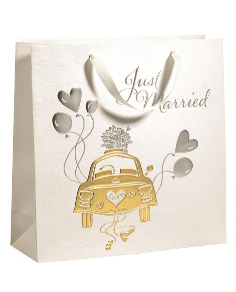 """Geschenktüten Hochzeit """"Wedding Car"""" 330 x 120 x 330 mm"""