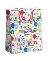 "Geschenktüten Geburtstag 3er Set ""Happy Birthday"" 260 x 135 x 335 mm"