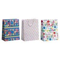 "Geschenktüten Geburtstag 3er Set ""Happy Birthday"" 260 x 135 x 335 mm - 1 Set"