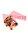 Spitztüten rosa Herzchen 125g 1/8 kg 19cm - 1000 Tüten