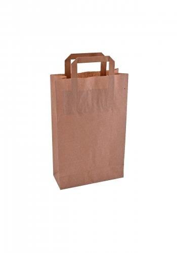 Papiertragetaschen mit Flachhenkel 22x10x36cm braun