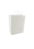 Papiertragetaschen mit Kordel 32+17x43cm weiß - 250...