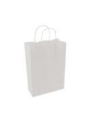 Papiertragetaschen mit Kordel 22+10x28cm weiß - 25...