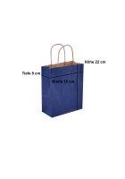 Papiertragetaschen mit Kordel 18x8x22cm blau