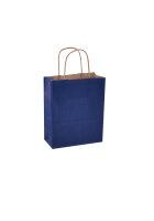 Papiertragetaschen mit Kordel 18x8x22cm blau - 300 Tüten