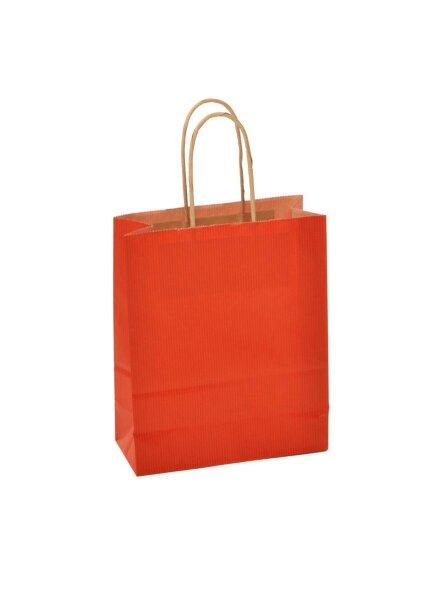 Papiertragetaschen mit Kordel 18x8x22cm rot - 300 Tüten