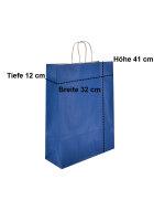 Papiertragetaschen mit Kordel 32+14x42cm blau