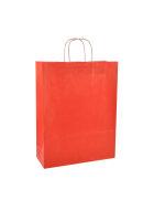 Papiertragetaschen mit Kordel 32+14x42cm rot