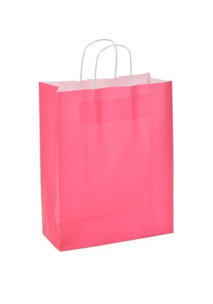 Papiertragetaschen mit Kordel 32+17x43cm rosa - 250 Tüten